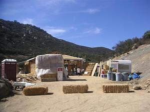 Jamul straw bale home construction site
