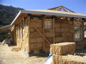 Jamul straw bale home under construction