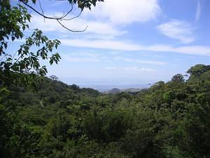 View of the Nicoya Peninsula (Pacific)