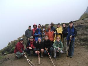 Group photo at the top of Dead Woman's Pass