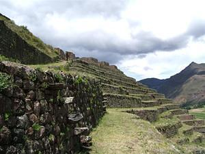 Inka flying steps and terraces at Pisaq