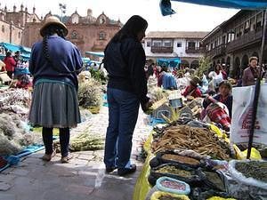 Every December 24th, Cuzco has a market in the Plaza