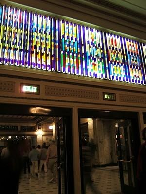 Spreckels theatre's deco glass