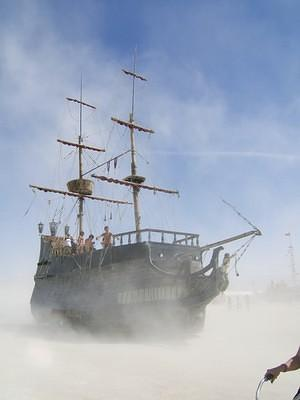 Dusty pirate ship