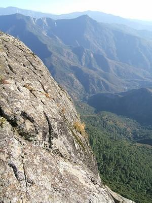 View of the valley and the side of Moro Rock