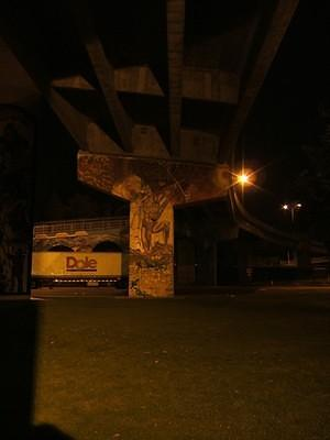Chicano Park at night