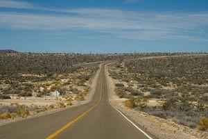Road from Bahia de los Angeles to highway 1.