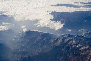 Clouds in the San Gabriel Mountains