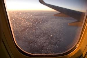 Ice crystals in the window