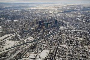 Calgary from the air
