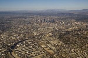 Downtown LA from the air