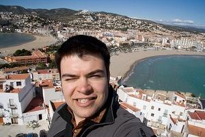 Chris at the top of Castell de Peñíscola