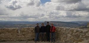 Chris, Pete, Colan, and Anna at the top of Morella's castle