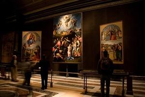 Colan eyeing the Vatican's paintings