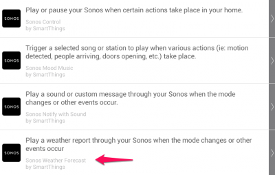 SmartThings Sonos Weather App