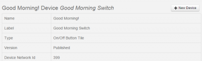 SmartThings good morning switch