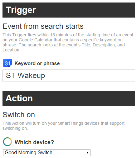 ifttt action and trigger